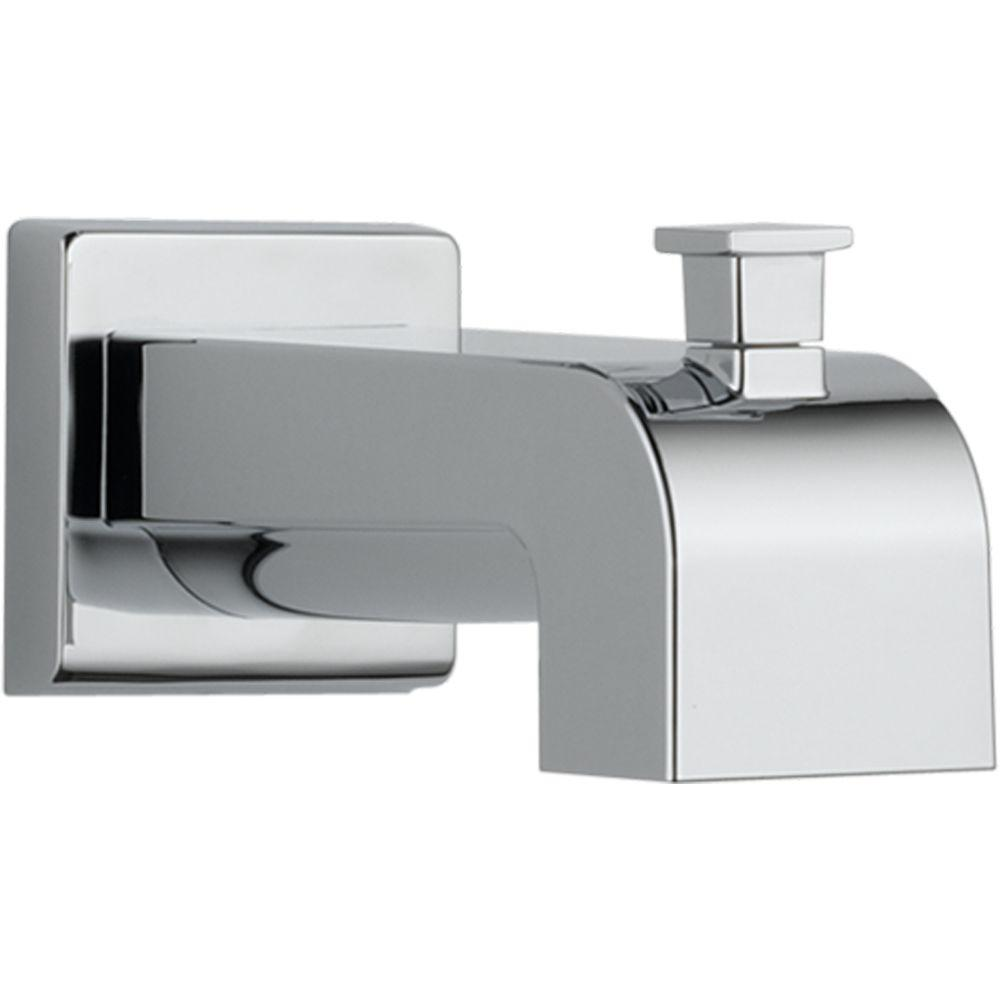 delta arzo and vero 7 1 8 in pull up diverter tub spout in chrome