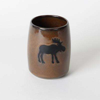 Silhouette Wildlife Free Standing Tumbler in Brown