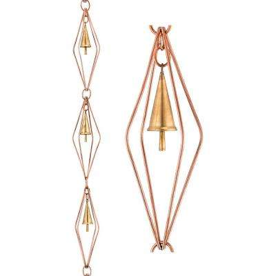 8.5 ft. Diamond Pure Copper Rain Chain with Bells