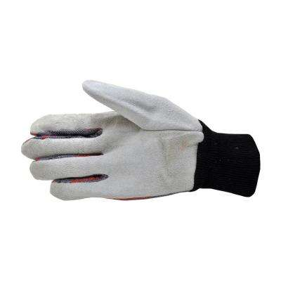 Leather Palm Knit Wrist Gloves (5 Pack)