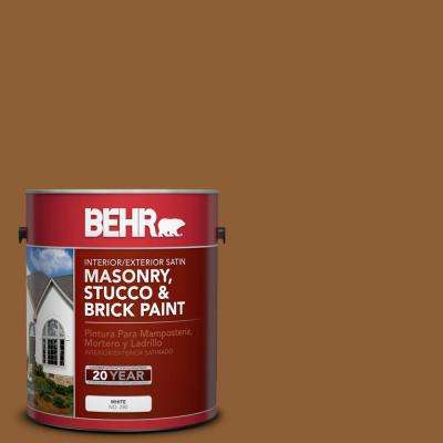 1 gal. #S250-7 Moroccan Spice Satin Interior/Exterior Masonry, Stucco and Brick Paint