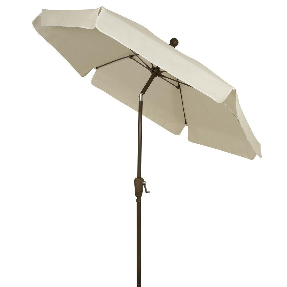 fiberbuilt umbrellas 7.5 ft. patio umbrella in white-7gcrcb-t-nt 6 Ft Patio Umbrella