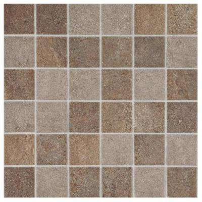 Longbrooke Slate Mix 12 in. x 12 in. x 6 mm Glazed Ceramic Mosaic Tile