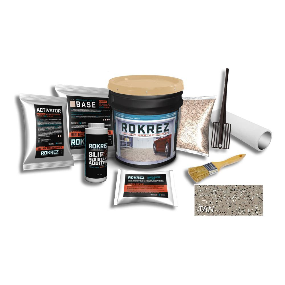 SIMIRON ROKREZ 115 oz. Tan Gloss 1 Car Garage Industrial Epoxy Floor Kit 2 Component 100% Solids All-In-One DIY Kit