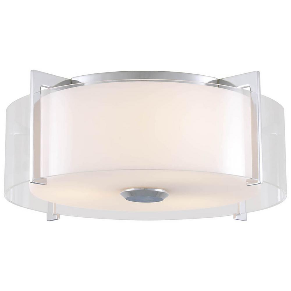 Alia 2-Light Chrome Flushmount