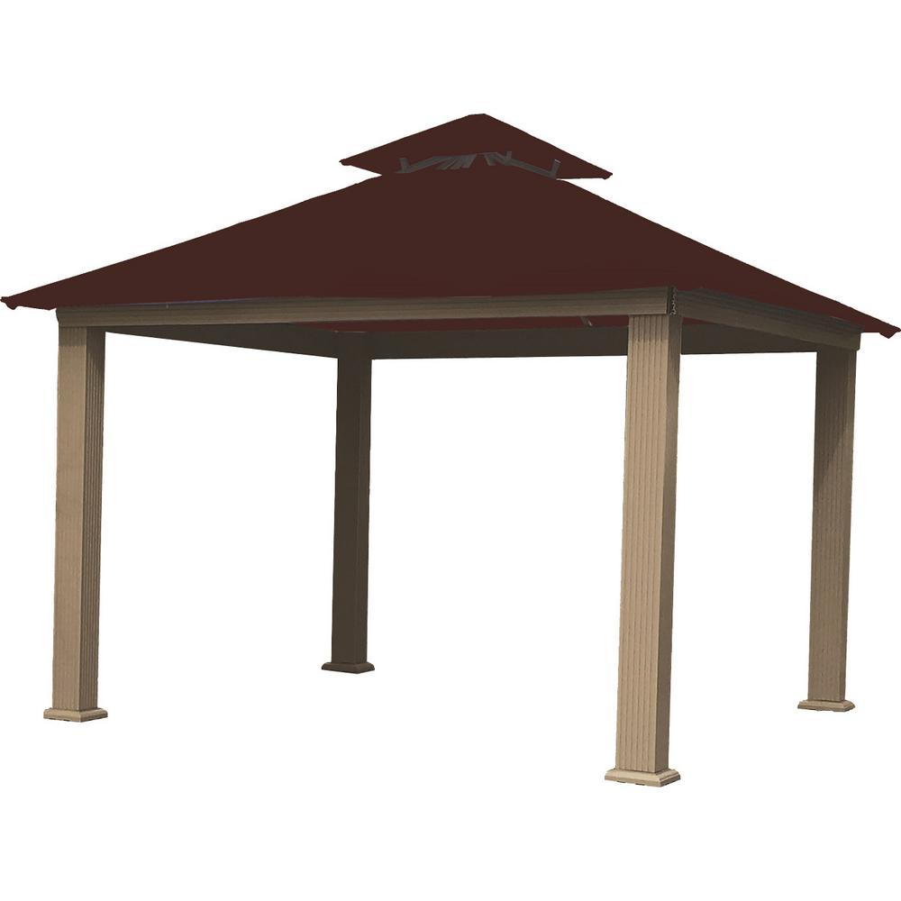 14 ft. x 14 ft. Burgundy Gazebo