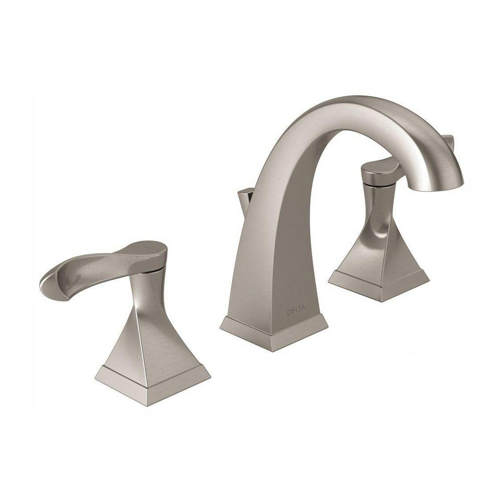 Delta Everly 8 in. Widespread 2-Handle Bathroom Faucet in SpotShield Brushed Nickel