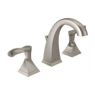 Delta Bathroom Faucets.Everly 8 In Widespread 2 Handle Bathroom Faucet In Spotshield Brushed Nickel