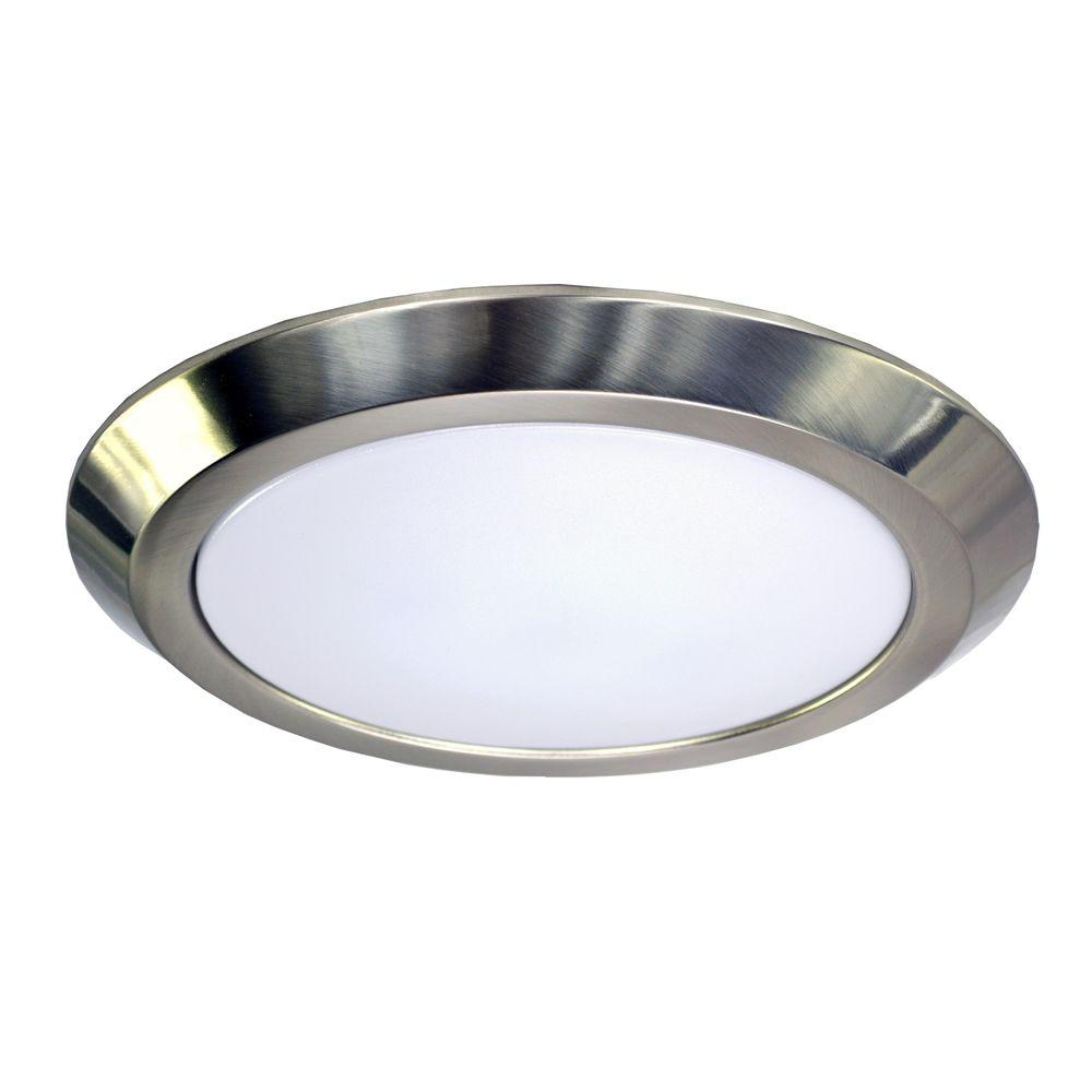 Homeselects 6 In Brushed Nickel Recessed Led Trim With 80cri 3000k