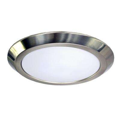 6 in. Brushed Nickel Recessed LED Trim with 80CRI, 3000K