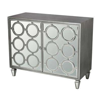Silver Mirrored Storage Cabinet