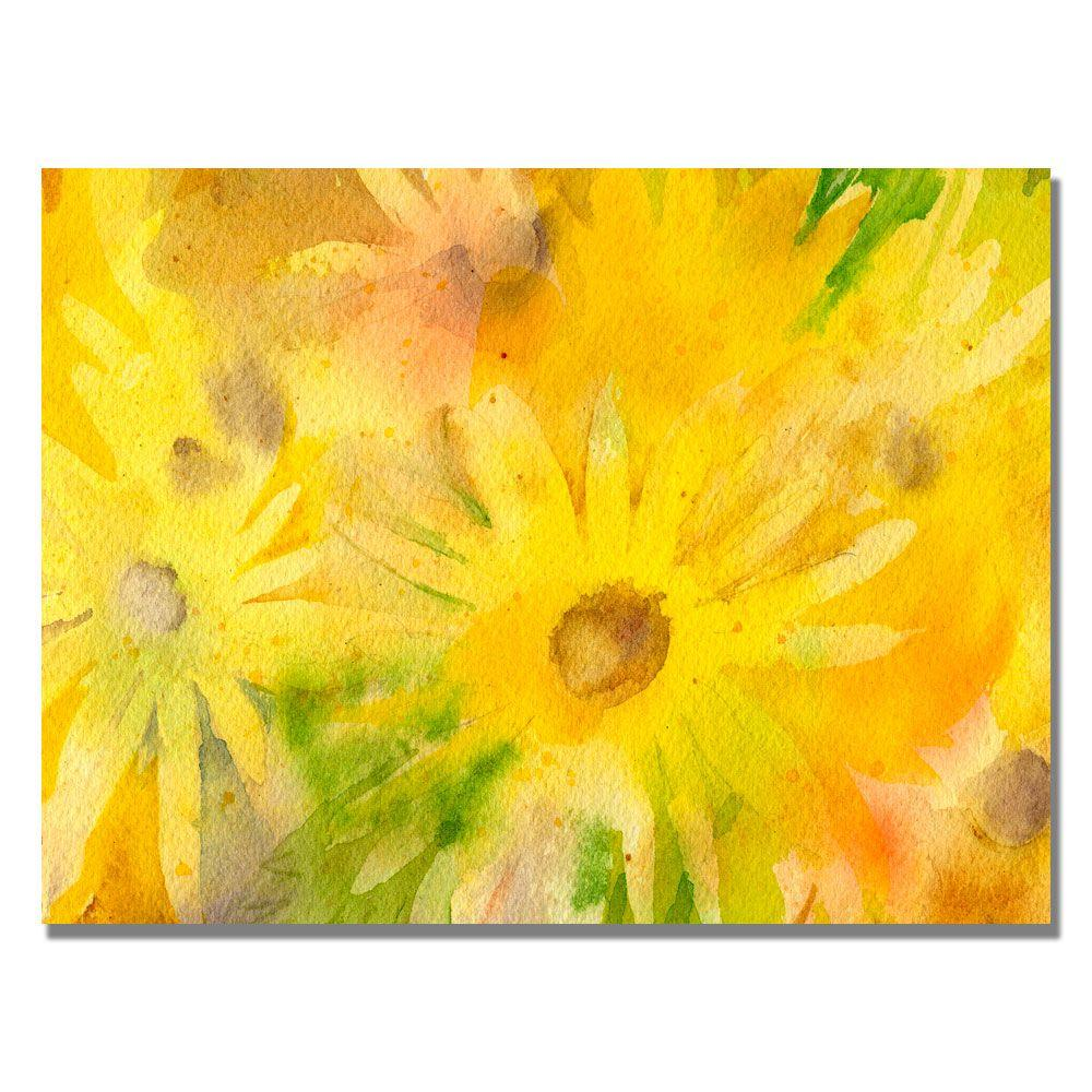 35 in. x 47 in. Yellow Wild Flowers Canvas Art
