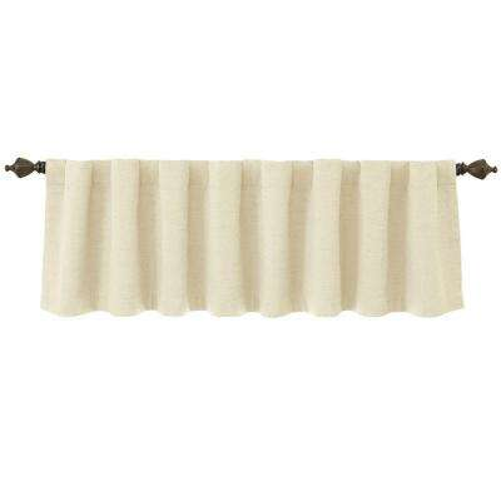 National Sleep Foundation Room Darkening 18 in. L Polyester Valance in Ivory