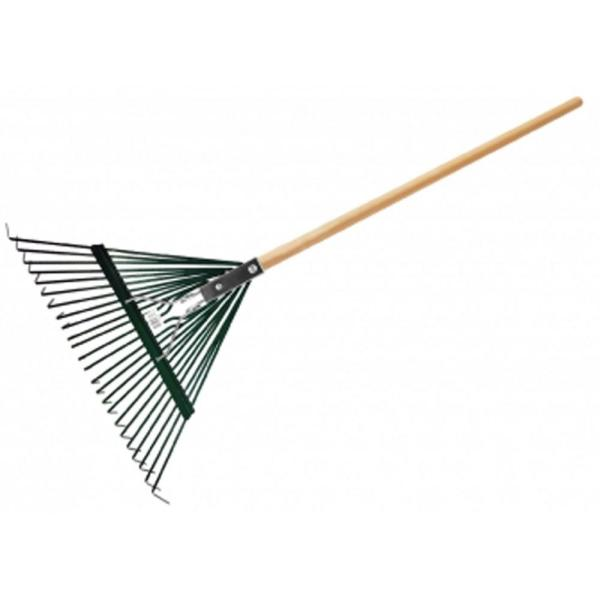 Leaf Rake with Deluxe Spring, Heavy Duty 24-Tine, (Box of 3)