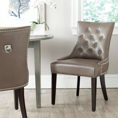 Harlow Clay/Espresso Bicast Leather Side Chair (Set of 2)
