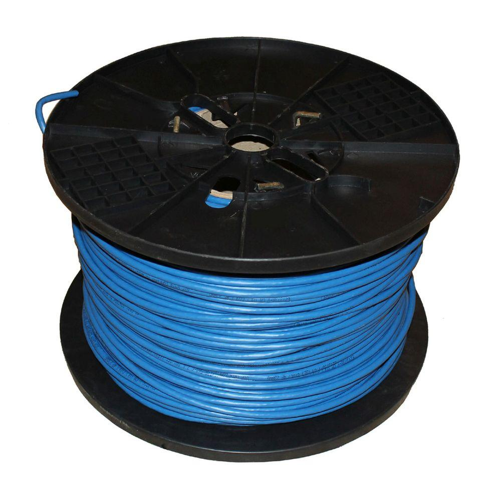 TygerWire Category 6 1000 ft. Blue 24-4 Unshielded Twist Pair Cable ...