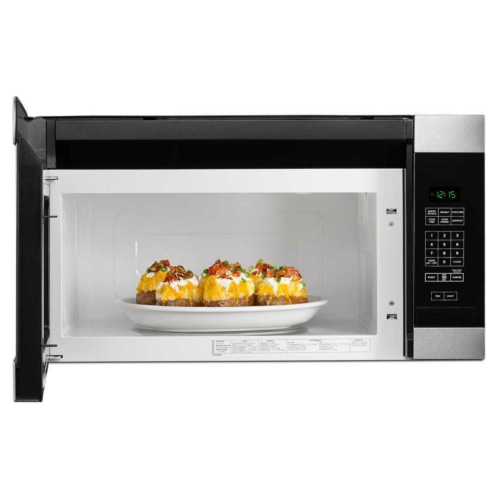 Amana 1 6 Cu Ft Over The Range Microwave In Stainless Steel