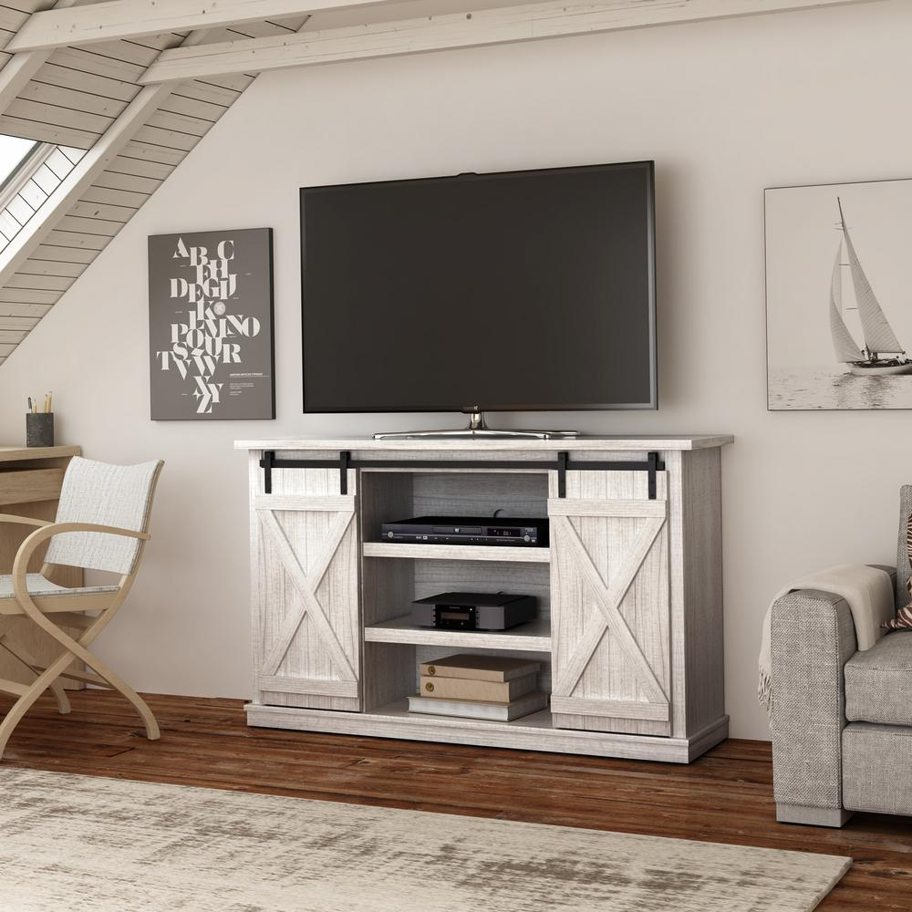 Bell O Cottonwood Tv Stand For 60 In Tvs In Sargent Oak And White