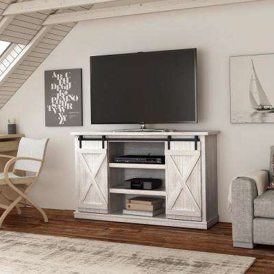 Beau Cottonwood Sargent Oak And White Entertainment Center