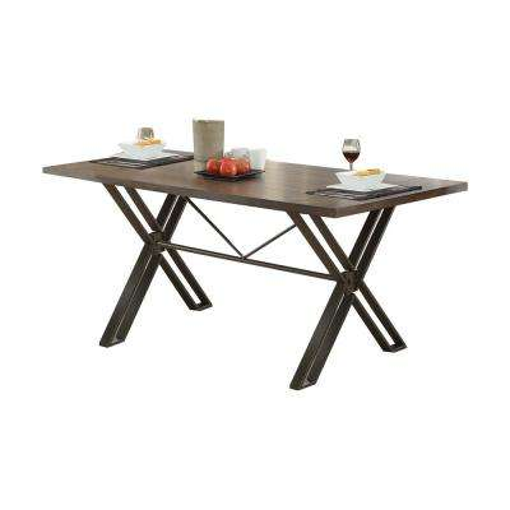 Jodoc Walnut and Gunmetal Dining Table