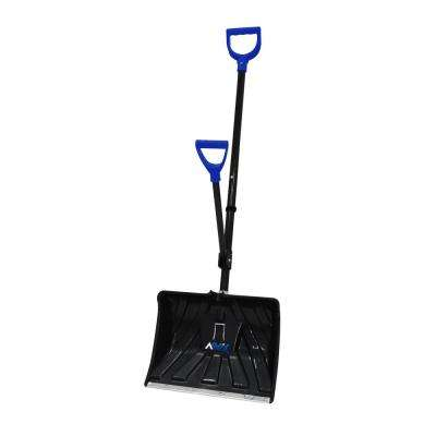 18 in. 2-in-1 Ergonomic Snow Shovel/ Ice Chisel