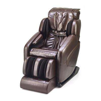 Jin Espresso Antiqued Gloss Synthetic Leather SL Track Deluxe Zero Gravity Massage Chair