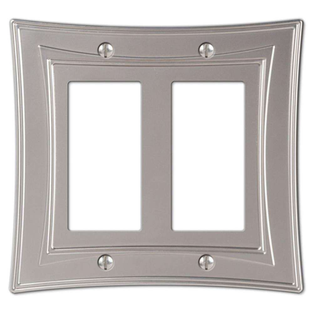 Amerelle Urban 2 Decora Wall Plate - Nickel