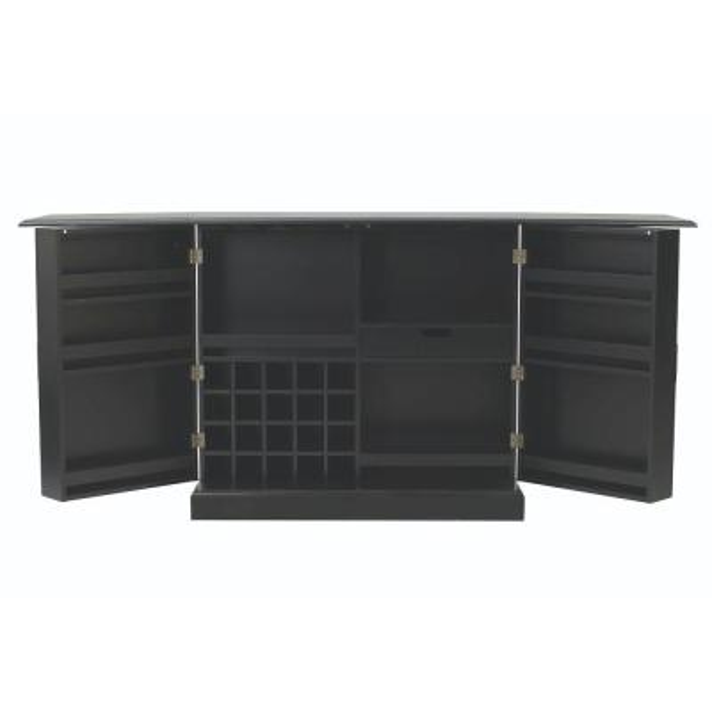 Jamison Black Bar with Expandable Storage