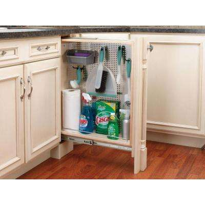 30 in. H x 6 in. W x 23 in. D Pull-Out Between Cabinet Base Filler with Stainless Steel Panel