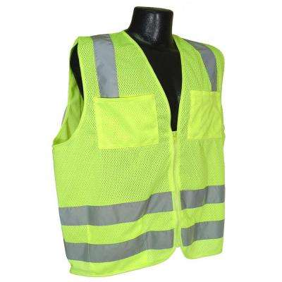 Std Class 2 Vest Green Mesh Extra Large