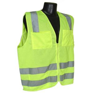 Radians Std Class 2 5 X-Large Green Mesh Safety Vest by Radians