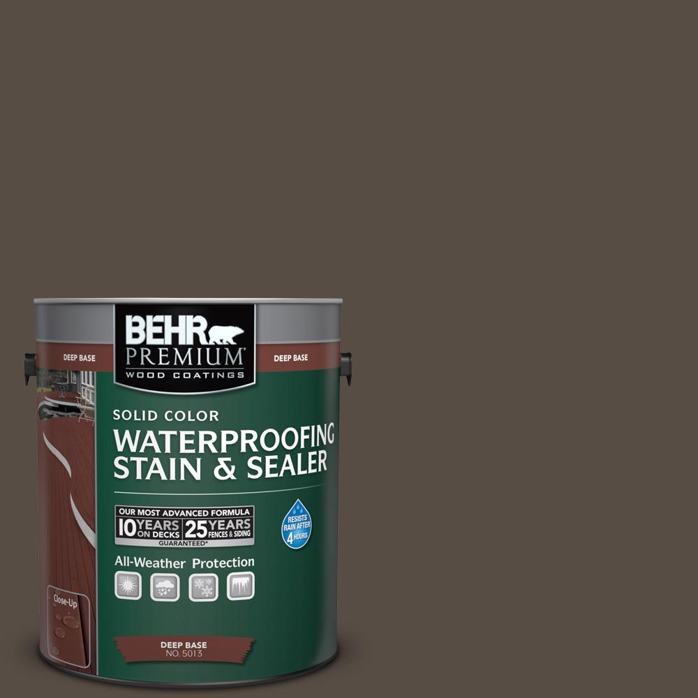 Superior BEHR DECKplus 1 Gal. #SC 103 Coffee Solid Color Waterproofing Wood Exterior  Stain