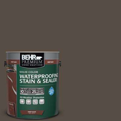 1 gal. #SC-103 Coffee Solid Color Waterproofing Exterior Wood Stain and Sealer