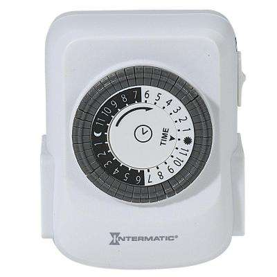 15 Amp Plug-In 2-Outlet Heavy Duty Indoor Timer - White