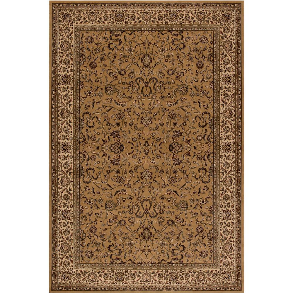 Persian Classics Kashan Gold 4 ft. x 6 ft. Area Rug