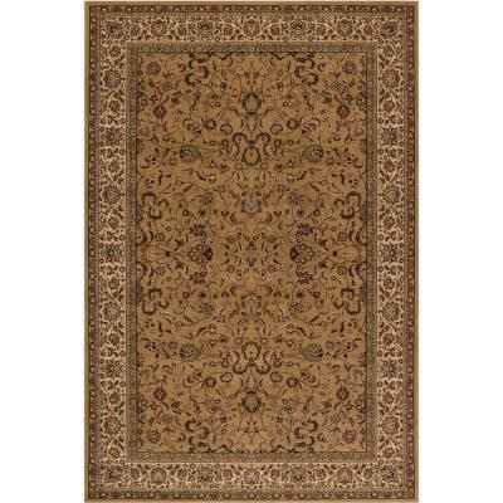 Persian Classics Kashan Gold 7 ft. x 10 ft. Area Rug