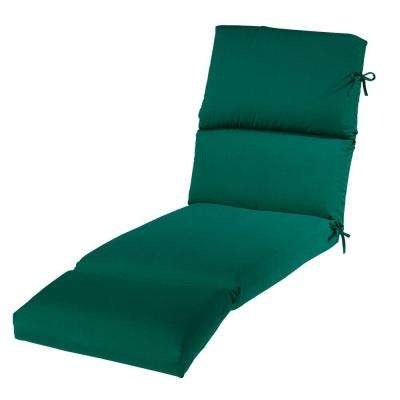 23 x 74 Outdoor Chaise Lounge Cushion in Sunbrella Forest Green