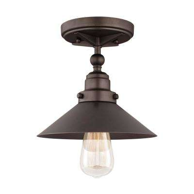 Hooper 1-Light Antique Bronze Flush Mount
