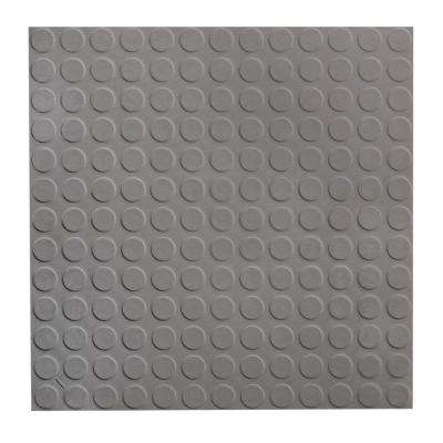 Low Profile Circular Design 19.69 in. x 19.69 in. Dark Gray Rubber Tile