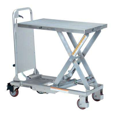 400 lb. Capacity 17.625 in. x 27.5 in. Partially Stainless Steel Cart