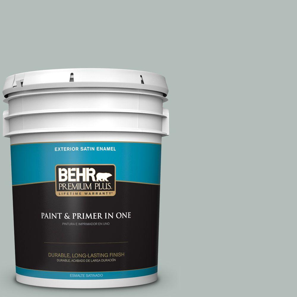 Home Decorators Collection 5-gal. #HDC-NT-25 Dew Satin Enamel Exterior Paint