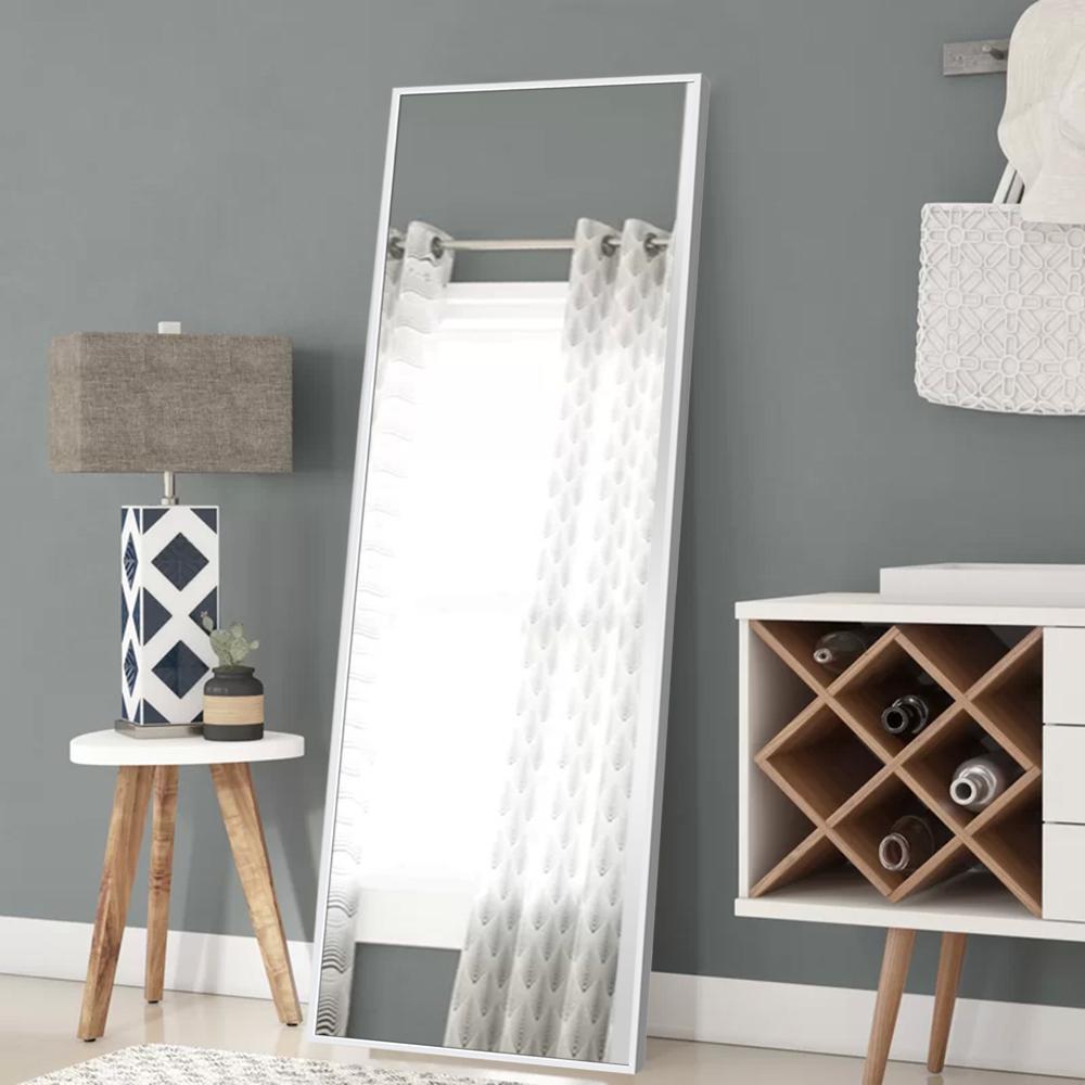 Modern Rectangular Large Floor/Full-Length Mirror With Bracket