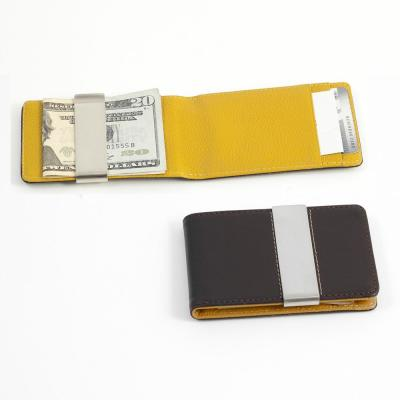 Leather Wallet in Yellow