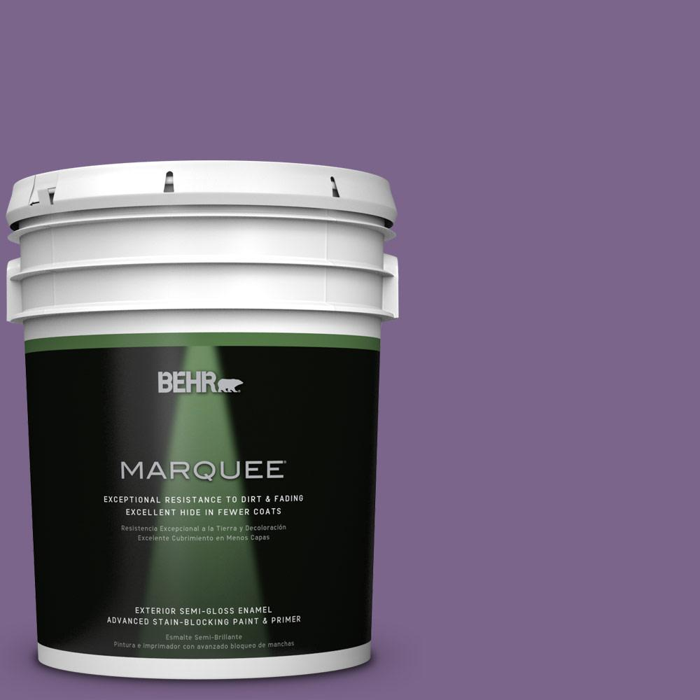BEHR MARQUEE 5-gal. #M570-6 Notorious Semi-Gloss Enamel Exterior Paint