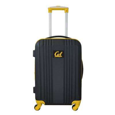 NCAA Berkeley 21 in. Yellow Hardcase 2-Tone Luggage Carry-On Spinner Suitcase