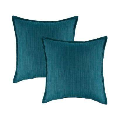 Sunbrella Dupione Deep Sea 20 in. Outdoor Pillow (set of 2)