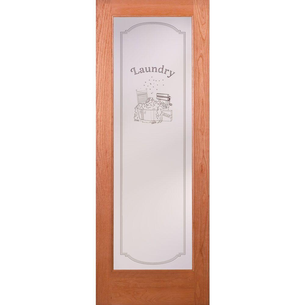 Superieur 1 Lite Unfinished Cherry Laundry Woodgrain Interior Door Slab
