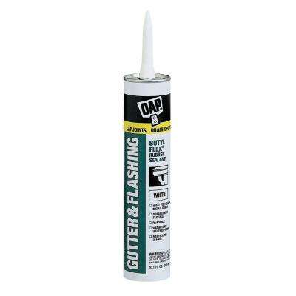 Butyl-Flex 10.1 oz. White Gutter and Flashing Sealant (12-Pack)