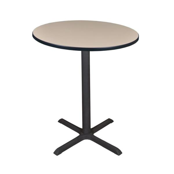 Regency Cain Beige 36 in. Round Cafe Table TCB36RNDBE