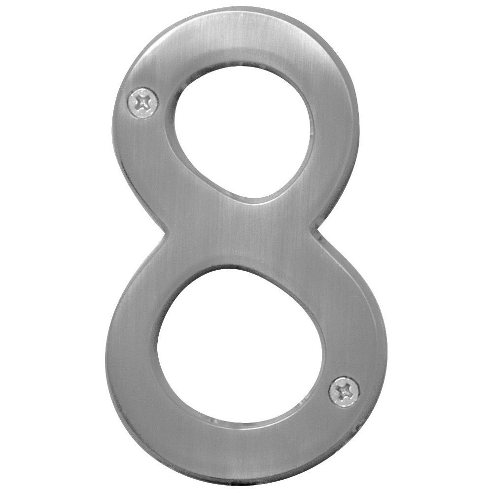 Hy ko 4 in metal number 8 br 43sn8 the home depot metal number 8 biocorpaavc Image collections